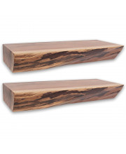 Nature'S Edge 18'' Floating Wall Shelf - 3'' Height (Set Of 2)