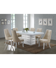 PC60-B Beige Vinyl Kitchen Dinette Dining Side Chairs (Set Of Two)