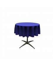 La Linen Polyester Poplin Tablecloth 51-Inches Round, Royal Blue