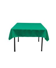 La Linen Polyester Poplin Square Tablecloth, 58 By 58-Inch, Jade