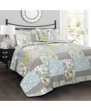 Roesser Quilt Blue 3Pc Set King
