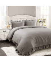 Reyna Comforter Gray 3Pc Set Full/Queen