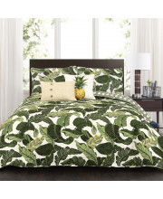 Tropical Paradise Quilt Green 5Pc Set Full/Queen