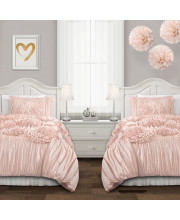 Serena Comforter Pink Blush 2Pc Set Twin XL