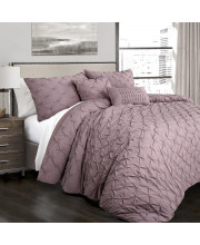 Ravello Pintuck Comforter Woodrose 5Pc Set King