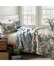 Sydney Quilt Green/Blue 3Pc Set King