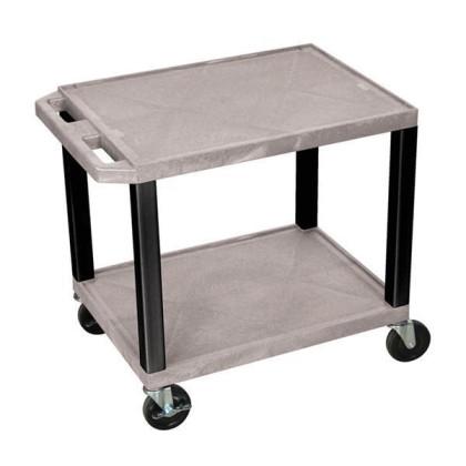 H.Wilson Tuffy Gray 2 Shelf AV Cart