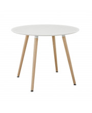 Track Round Dining Table - White