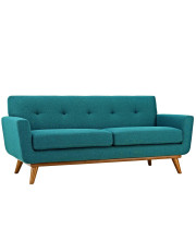 Engage Upholstered Fabric Loveseat - Teal