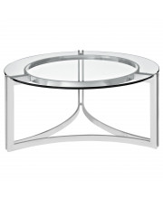 Signet Stainless Steel Coffee Table - Silver