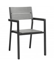 Maine Dining Outdoor Patio Armchair - Brown Gray