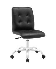 Prim Armless Mid Back Office Chair - Black