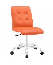Prim Armless Mid Back Office Chair - Orange