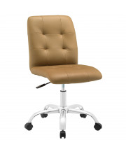 Prim Armless Mid Back Office Chair - Tan