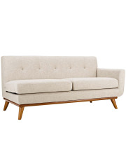 Engage Right-Arm Upholstered Fabric Loveseat - Beige