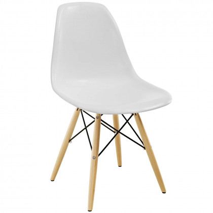 Pyramid Dining Side Chair - White