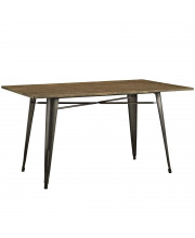 """Alacrity 59"""" Rectangle Wood Dining Table - Brown"""