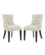 Regent Dining Side Chair Fabric Set of 2 - Beige