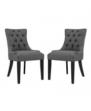 Regent Dining Side Chair Fabric Set of 2 - Gray