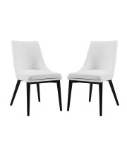 Viscount Dining Side Chair Vinyl Set of 2 - White