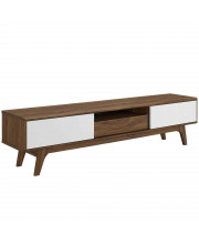 """Envision 70"""" Media Console Wood TV Stand - Walnut White"""