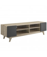"Tread 70"" Media Console TV Stand - Natural Gray"