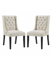 Baronet Dining Chair Fabric Set of 2 - Beige