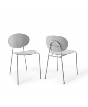 Ergo Palette Dining Side Chair Set of 2 - Gray