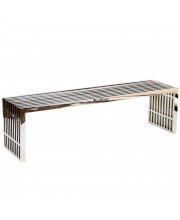 Gridiron Large Stainless Steel Bench - Silver