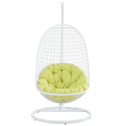 Encounter Swing Outdoor Patio Fabric Lounge Chair - White
