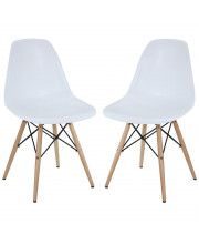 Ergo Pyramid Dining Side Chairs Set of 2 - White