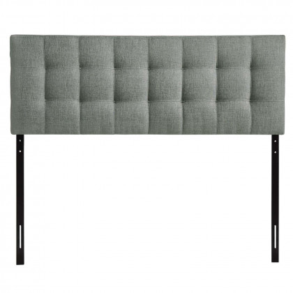 Lily Full Upholstered Fabric Headboard - Gray