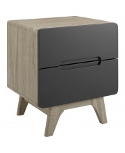 Origin Wood Nightstand or End Table - Natural Gray