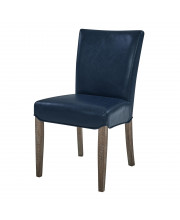 Beverly Hills Bonded Leather Chair,Set Of 2 - Vintage Blue
