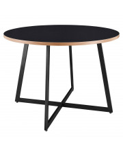"""Courtdale 42"""" Round Table - Black"""