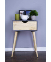 1-Drawer End Table - Graphite