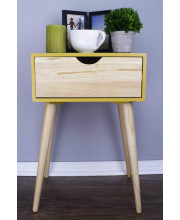 1-Drawer End Table - Yellow