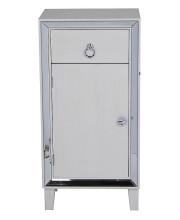 1-Drawer, 1-Door Accent Cabinet W/ Mirror Accents - Antique White