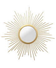 Wall Mirror Solid Metal With A Gold Finish