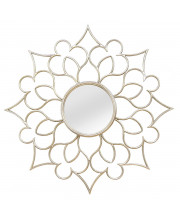 Wall Mirror Solid Metal With A Silver Finish