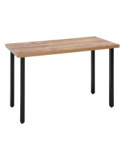 OFM Endure Series Standing Height Table, 2 Seats, Walnut Top with Dark Vein Seats Backless Seats
