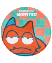 Touchdog Cartoon Sleepy Monster Rounded Cat and Dog Mat- One Size/Orange Monster