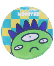 Touchdog Cartoon Alien Monster Rounded Cat and Dog Mat- One Size/Green Monster