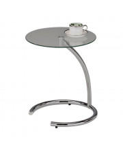 Pilaster Designs - Chrome With Glass Modern Accent Side End Table, Plant Stand