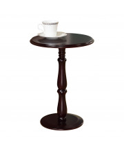 Pilaster Designs - Plant Stand Accent Side End Table, Cherry Finish