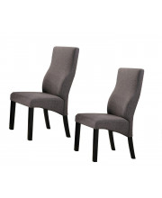 Pilaster Designs - Cappuccino / Grey Upholstered Parsons Dining Chairs, Set of 2