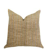 "Plutus Woven Beliza Luxury Throw Pillow - Double sided 20"" x 26"" Standard"