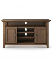 Amherst Tv Media Stand, Rustic Natural Aged Brown
