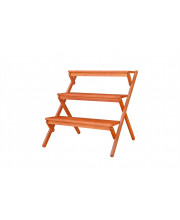 Outdoor Patio Wood Three-Layer Garden Plant Stand