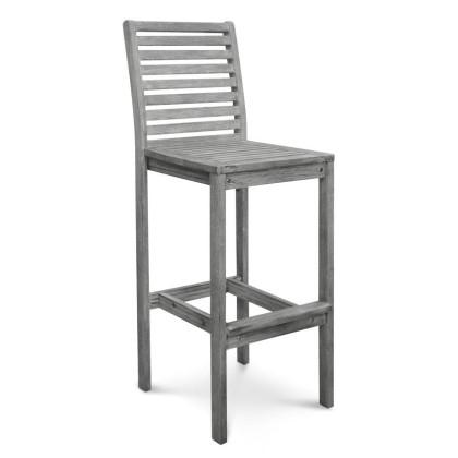 V1354 Renaissance Outdoor Hand-scraped Hardwood Bar Chair